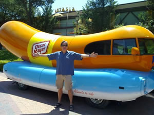 Dave with Wiernermobile